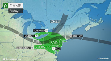 Rounds of rain, storms to soak mid-Atlantic into first week of May