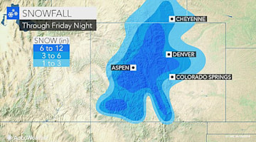 Heavy late-April snow to bury Colorado and threaten power outages