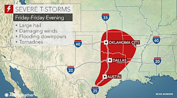 Severe storms to elevate flood risk in Oklahoma, Texas late this week