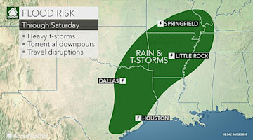Severe storms to elevate flood risk in Texas, Louisiana and Arkansas