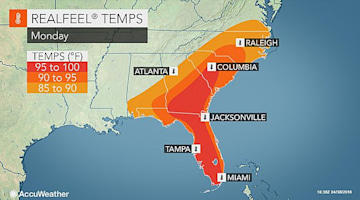 May starts on warm, muggy note in southeastern US