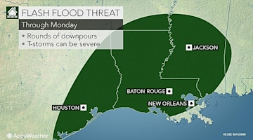 Rounds of flooding rain, storms eye Houston to New Orleans through early week