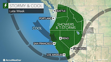 Late-week western US rain to bring needed dousing to drought zone but to cause travel delays