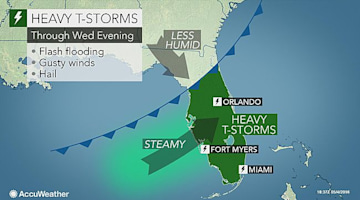 Severe storms to target central, southern Florida into Wednesday evening