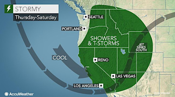 Late-week western US rain to bring needed dousing to drought zone