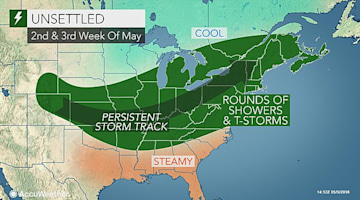 Relentless rain to drench eastern US through much of May