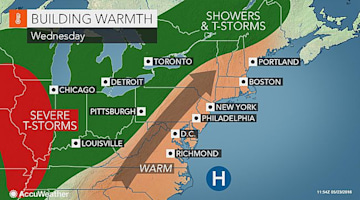 Warm air to yield multiple 80-degree days in northeastern US this week