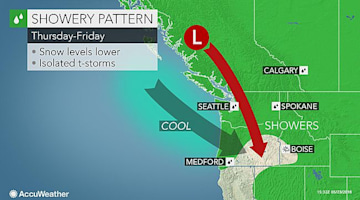 Showers to frequent northwestern US this week