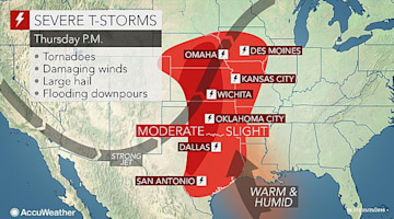 Severe storms, flash flooding to wallop central US through Friday