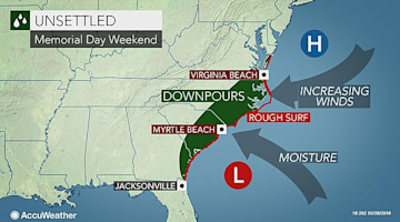 Will Bonnie form and impact the US East Coast during Memorial Day weekend?