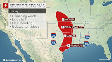 Flood threat to intensify as severe storms pound central US this weekend