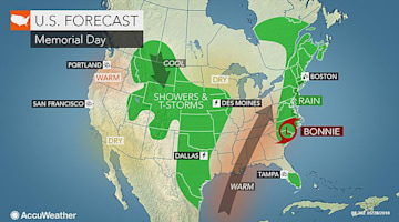 Memorial Day forecast: Tropical rainfall may ruin outdoor plans along Northeast coast