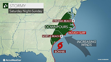 Bonnie threatens to form in time to drench US East Coast over Memorial Day weekend