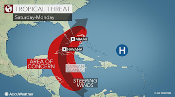 Tropical system may form in northwestern Caribbean, eastern Gulf of Mexico next week