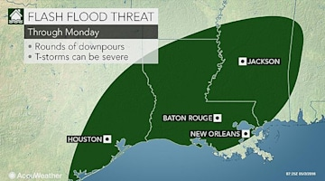 Waves of flooding rain, storms eye Houston to New Orleans through early week