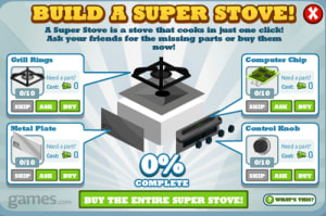 Cafe World: Super Stove now easier to complete