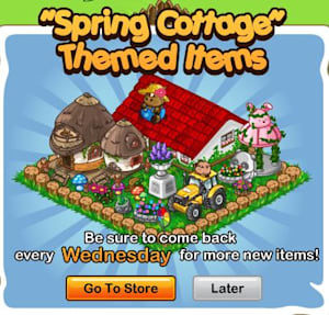 SPP! Ranch offers huge Spring Cottage set