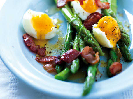 Image of Asparagus Spears Dressed In Salty Butter With Soft-boiled Eggs, Kitchen Daily