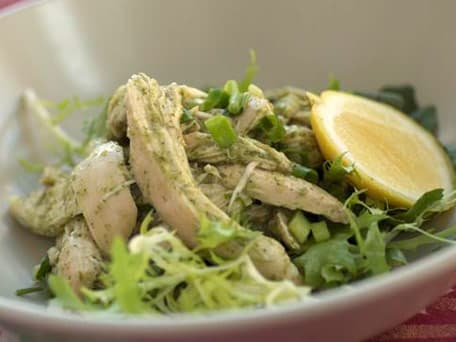 Steamed Chicken with Ginger and Scallion Sauce