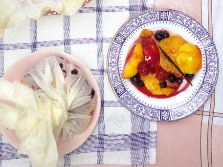 Baked Summer Fruit Bundles