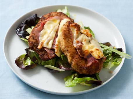 Open-Faced Chicken Cordon Bleu