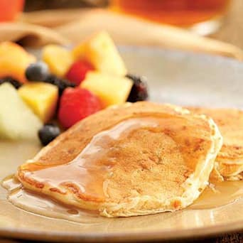 Image of Apple-bacon Pancakes With Cider Syrup, Kitchen Daily