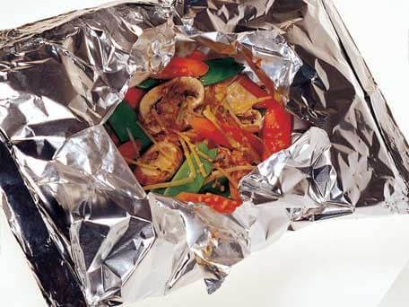 Image of Asian-flavored Vegetables Grilled In Foil Packets, Kitchen Daily
