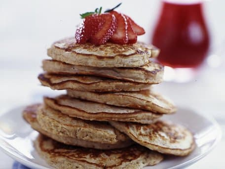 Healthified Whole Grain Brown Sugar-Cinnamon Pancakes