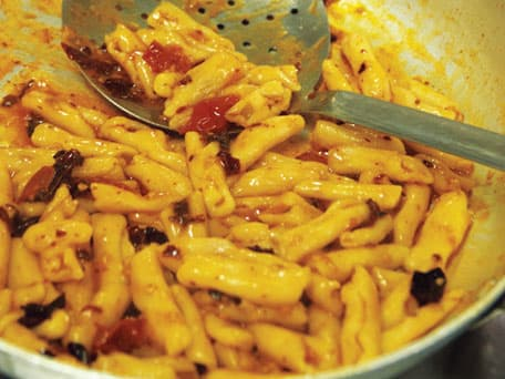 Capunti Pasta with Dried Sweet Italian Peppers (Capunti Con Cruschi)