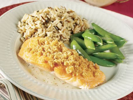 Image of Almond-crusted Salmon With Thyme & Lemon Butter Sauce, Kitchen Daily