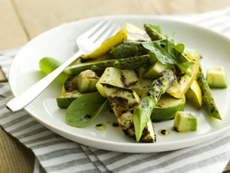 Grilled Zucchini and Summer Squash with Avocado