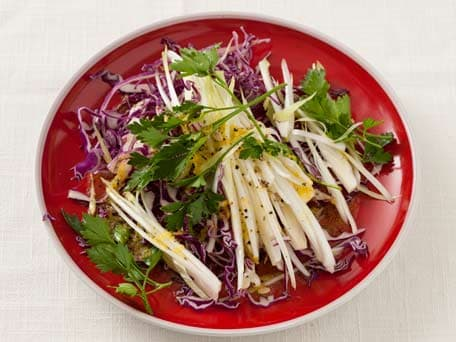 Parsley, Red Cabbage and Endive Salad