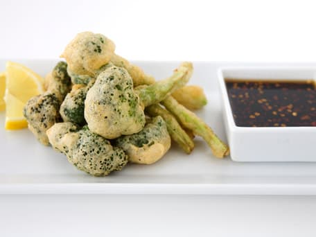 Lemony Broccoli Tempura Spears