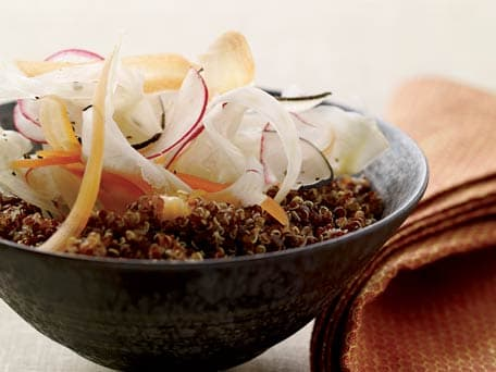 Lemony Quinoa Salad with Shaved Vegetables
