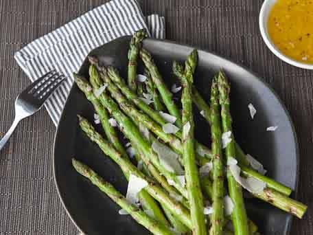 Grilled Asparagus Salad with Lemon Shallot Vinaigrette