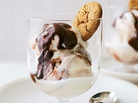 Image of Apple-butter Ice Cream With Ginger-chocolate Ganache, Kitchen Daily