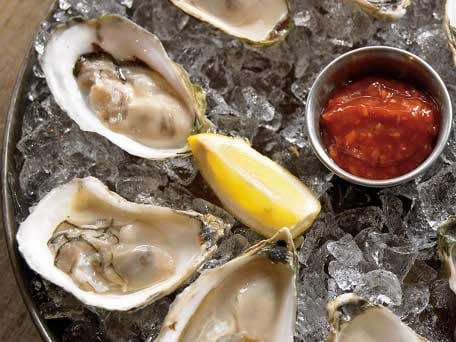 """Nude"" Raw Oysters with Sauces"