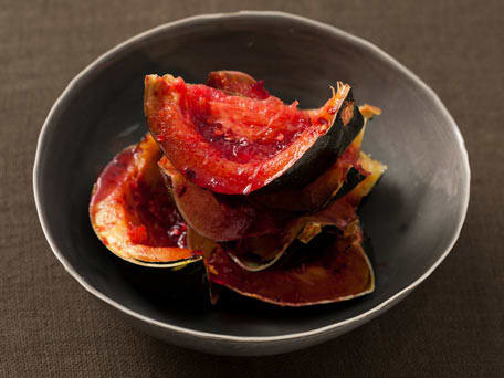 Spicy Red Currant Glazed Acorn Squash