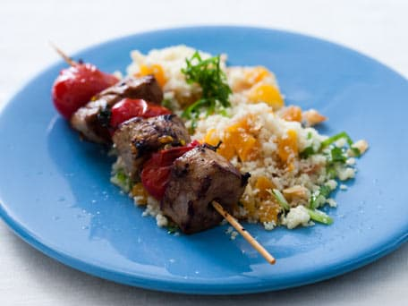 Pork Kebabs with Couscous