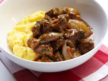 Lamb Stew with Caramelized Shallots