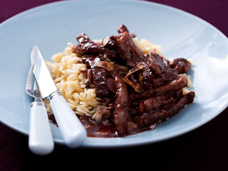 Rosemary and Red Wine Beef Saute