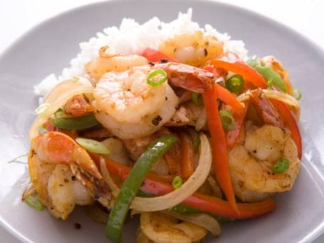 Wok-Fried Black Pepper Shrimp