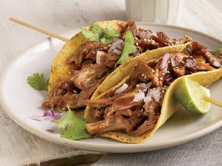 Beer-Braised Turkey Tacos