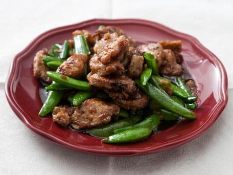 Stir-Fried Pork with Sugar Snap Peas and Scallions