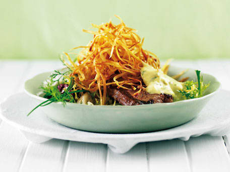 Steak Béarnaise with Sweet Potato Straws