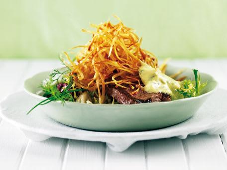 Steak Béarnaise with Sweet Potato Straws