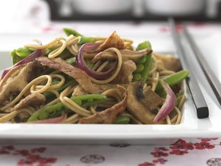 Healthified Teriyaki Pork and Mushroom Lo Mein