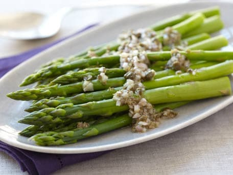 Image of Asparagus With Shallot Caper Vinaigrette, Kitchen Daily