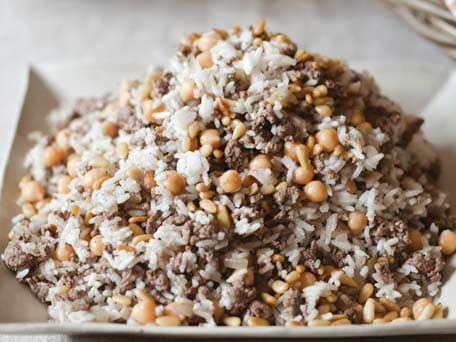 Spiced Lamb-and-Rice Dressing with Chickpeas