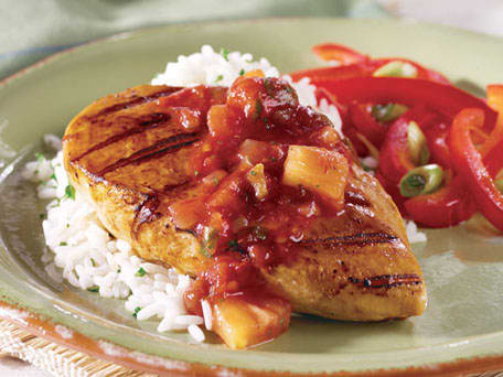 ... pineapple salsa save bbq chicken with pineapple bacon salsa yield